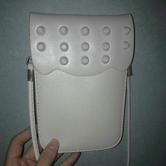 Mini White Sling Bag