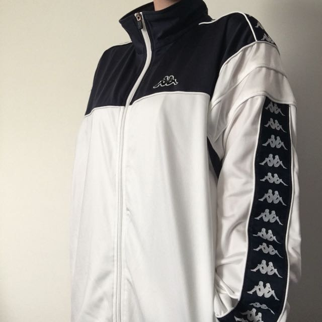 Navy And White Kappa Jacket