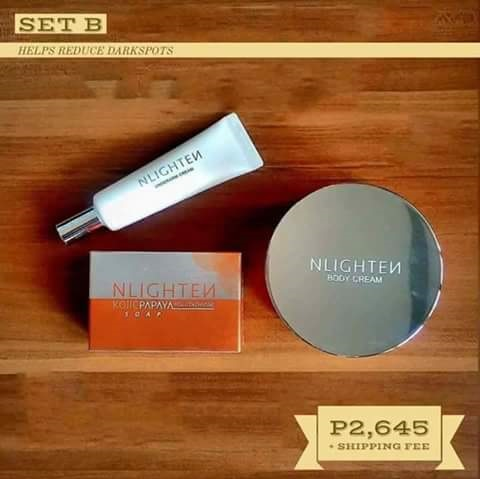 Nlighten Body Cream/Nlighten Underarm Cream/Nlighten Kojic Papaya