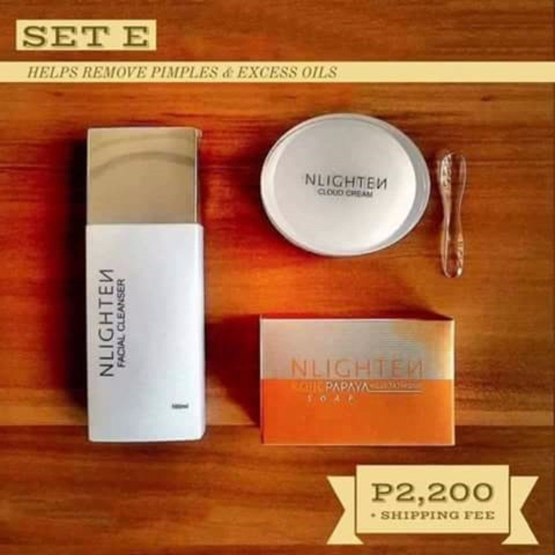 Nlighten Facial Cleanser/Kojic Soap/Cloud Cream
