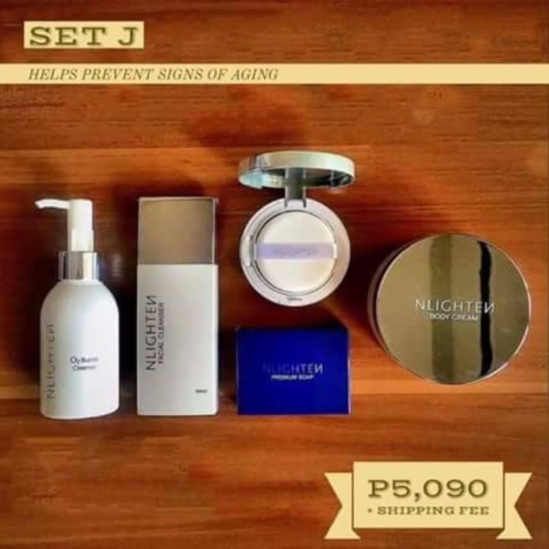 Nlighten O2 Bubble Cleanser/Facial Cleanser/CC CushionPowder/Body Cream/Premium Soap