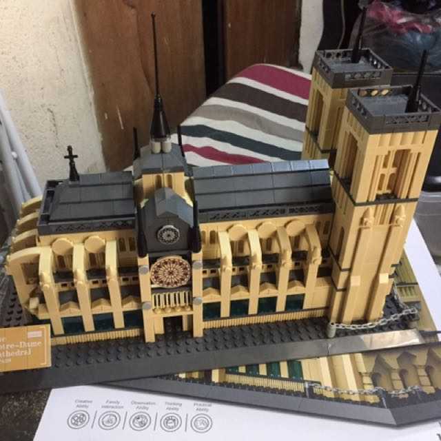 Notre-Dame Cathedral Of Paris Toy Blocks