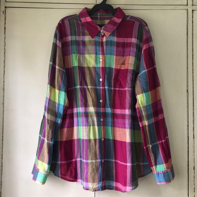 Original Old Navy Plaid Long-sleeve Shirt