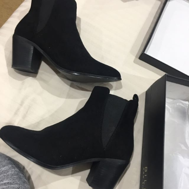 """OMARI"" Black Suede Ankle Boots From Billini"