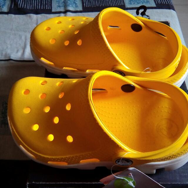 Original Crocs j1 Yellow-white