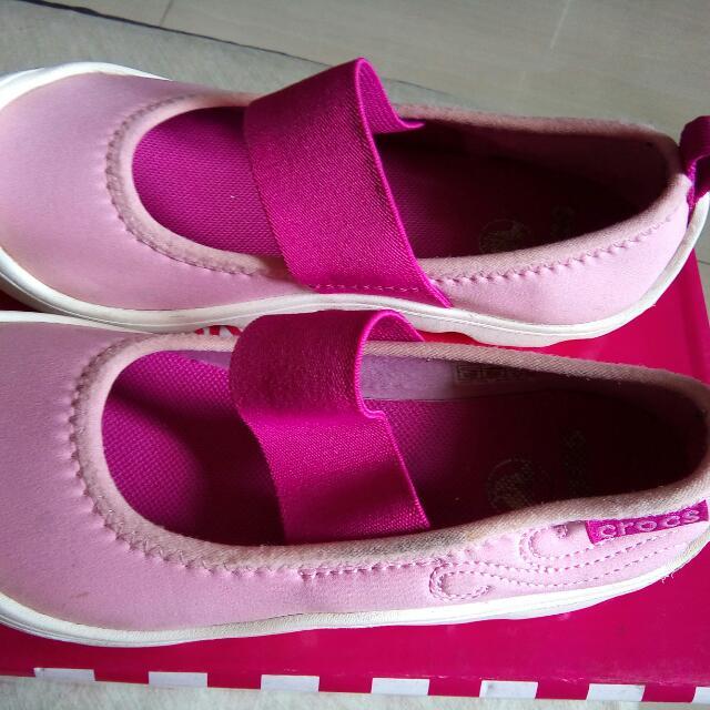 Original Crocs Pink Canvass Shoes