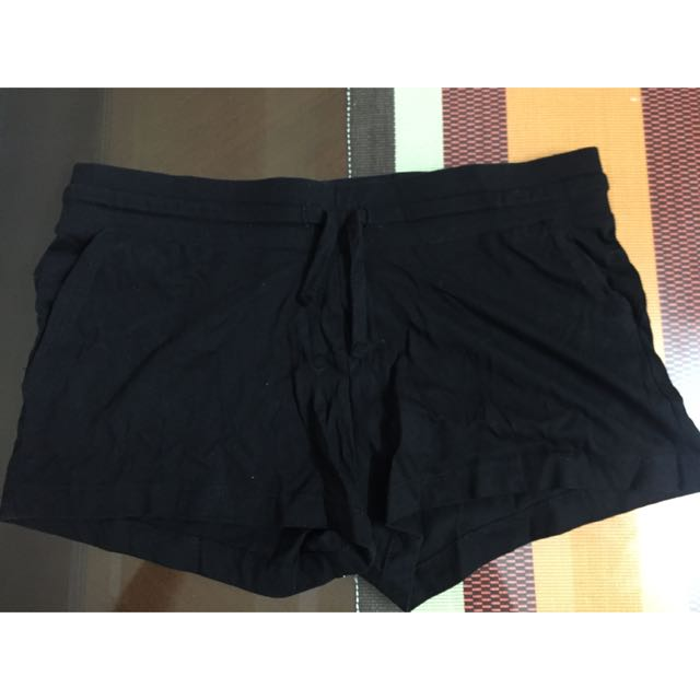 Original H&M Basic Cotton Black Shorts