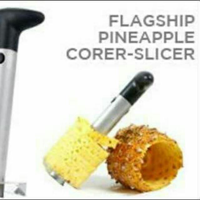 Pinapple corer-slicer