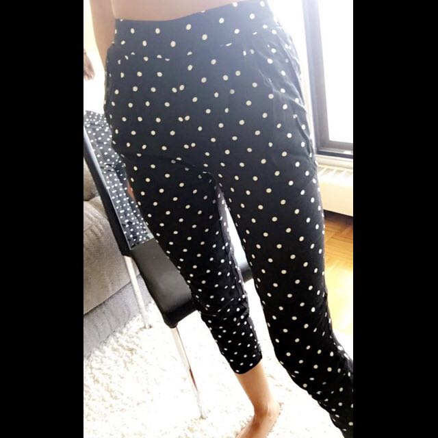 Polka Dot Cotton Pants