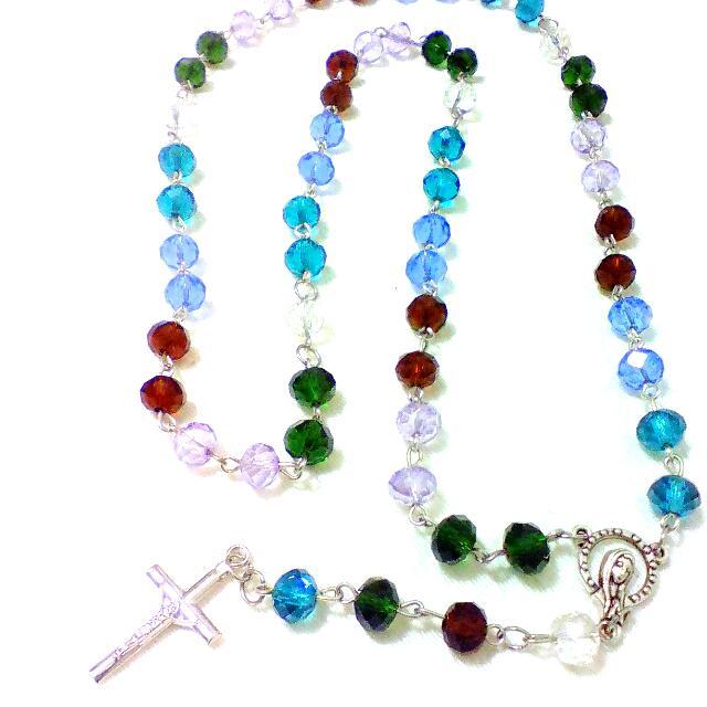 Rosary Crystal Beads Bracelet