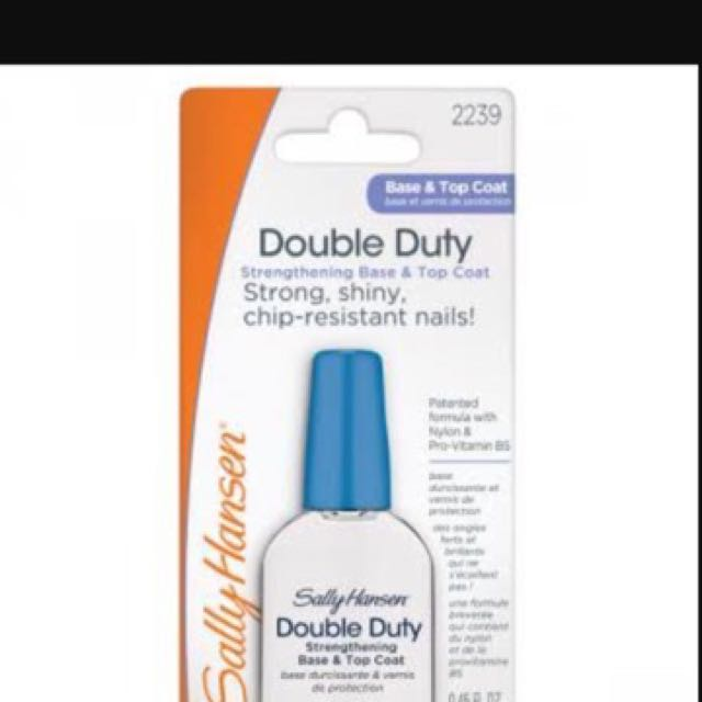 Sally Hansen Double Duty Strengthening Base And Top Coat