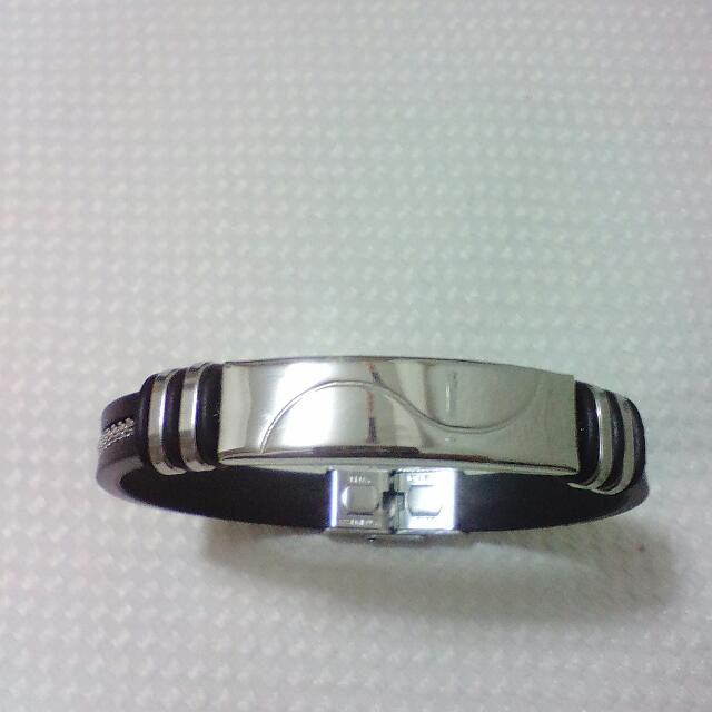 Silicone Stainless Steel Bracelet