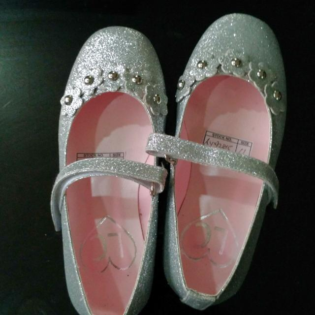 Silver Mary Janes Size 11
