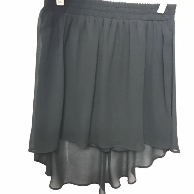 STRADIVARIUS symmetrically Cut Black Skirt