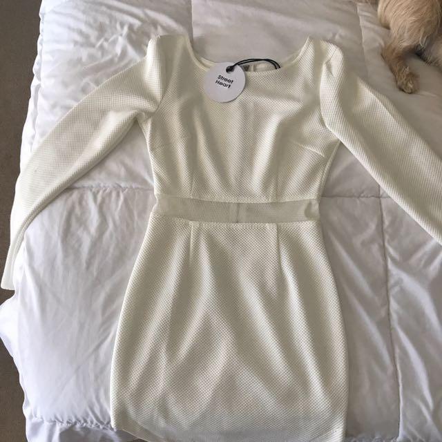 Street Heart White Party Dress Size 6/8