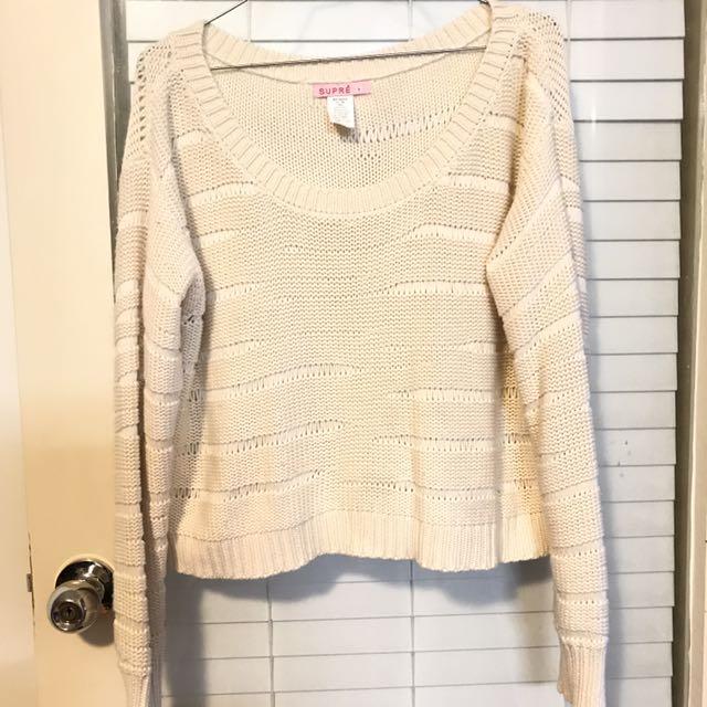 supre crop knit