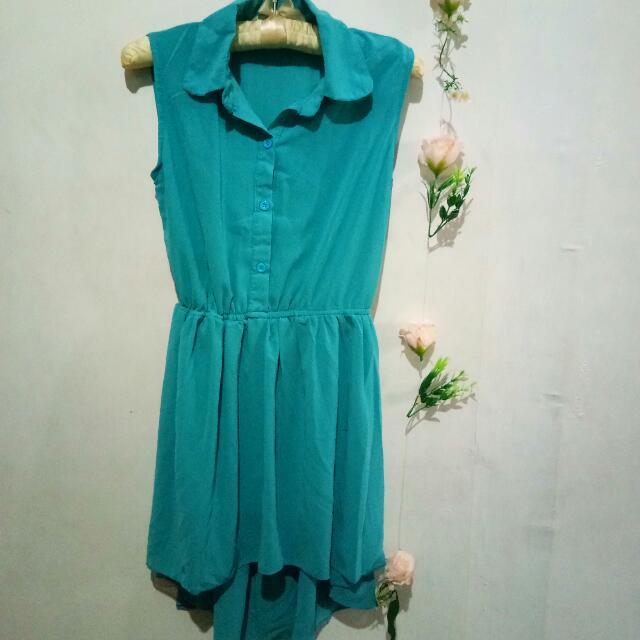 Teal HiLo Dress