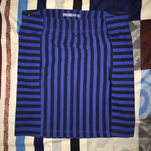 Terranova Blue Stripe Skirt