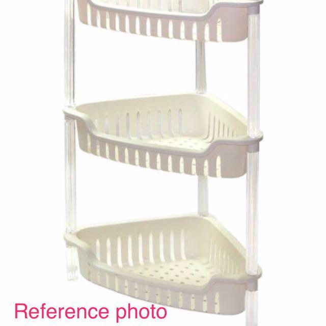 Triangular Plastic Bathroom Shelf Caddy Stand for Toiletries ...