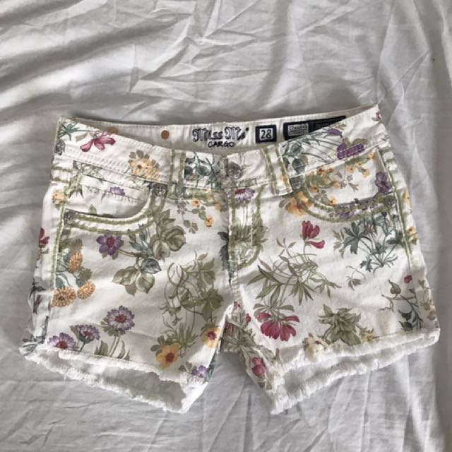 Tropical White Shorts