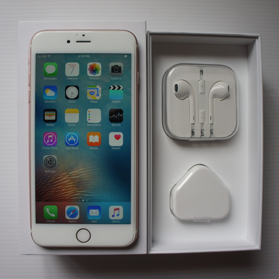 Used Iphone 6s Plus 64gb Rose Gold 100 Original My Set Condition Vivo V5 4 Like New Mobile Phones Tablets 6 Series On Carousell