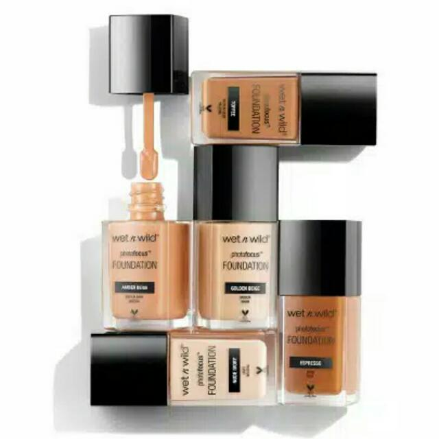 WET N WILD PHOTO FOCUS FOUNDATION 100% ORIGINAL