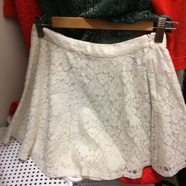 White Lace Skirt forever21