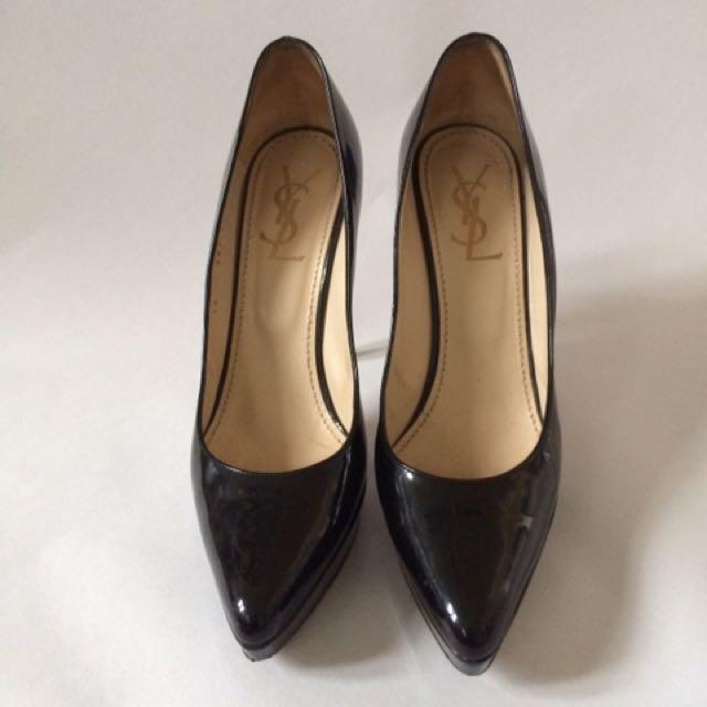 YSL Yves Saint Laurent Black Pointed Heels