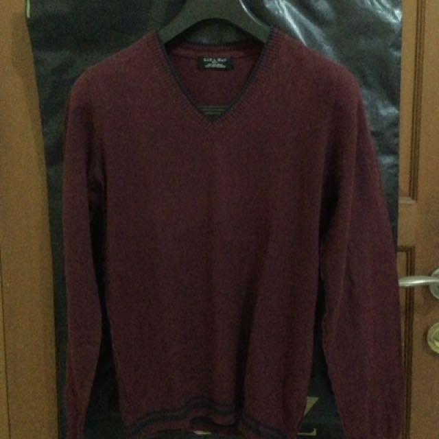 ZARA basic Sweater Maroon