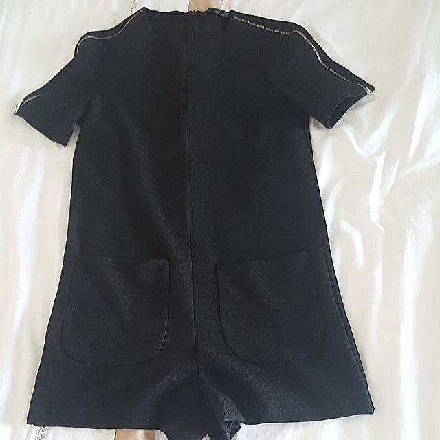 Zara Black Playsuit