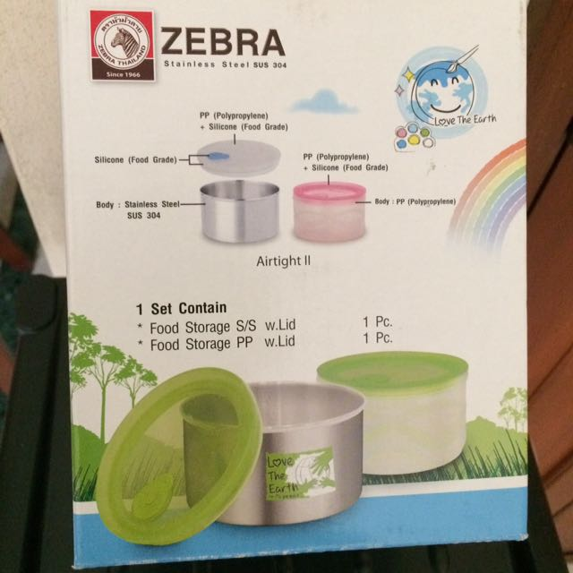 Zebra Stainless Steel SUS304 Food Storage Home Appliances on Carousell