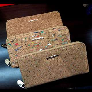 Corkboard Design Long Wallet