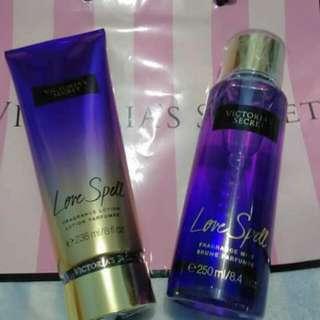 Victoria's Secret Love Spell Fragrance Mist & Lotion