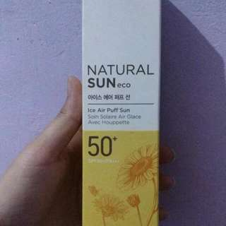 THE FACE SHOP NATURAL SUN ECO ICE AIR PUFF SPF 50+