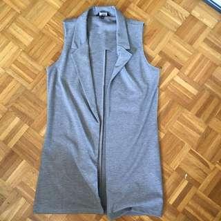 Grey Long Vest