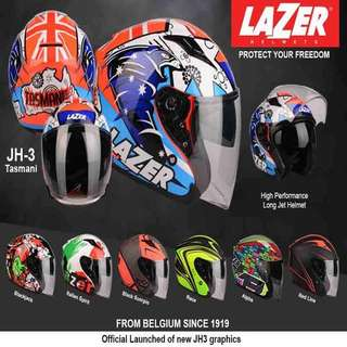 NEW ARRIVAL LAZER JH3 OPEN FACE HELMET