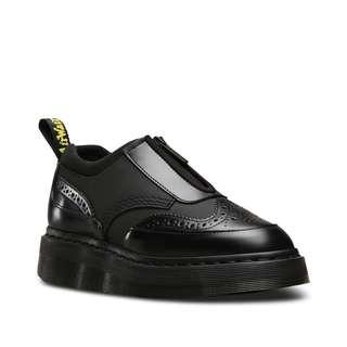 🚚 Dr Martens Resnik Zip Brogue 馬汀 拉鍊 雕花 厚底 皮鞋 AW17