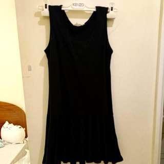 全新Net黑色無袖魚尾裙擺飄飄洋裝