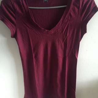 Burgandy T Shirt