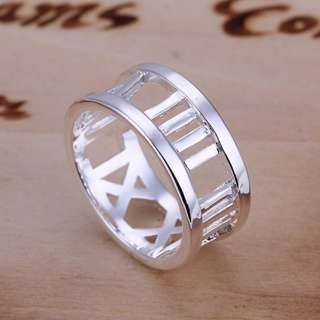 Womens Roman Numerals Ring