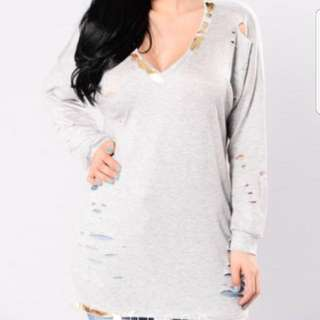Fashion Nova grey Sweater M