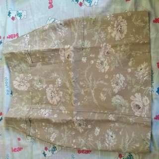 Skirt Motif Bunga Bunga