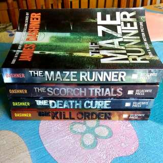 The Maze Runner Series by James Dashner  **Get All For Only 900php!  1. The Maze Runner 2. The Scorch Trial 3. The Death Cure 4. The Kill Order