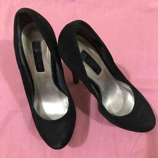 Black Embellished Platform shoes