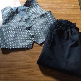 Vest And Black Pants Toddler