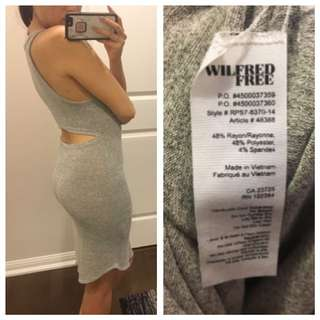 Aritzia WILFRED FREE Yasmin Dress In Heathered Grey Size XS