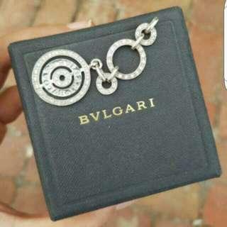 BVLGARI Sterling Silver & Cubic Pendant
