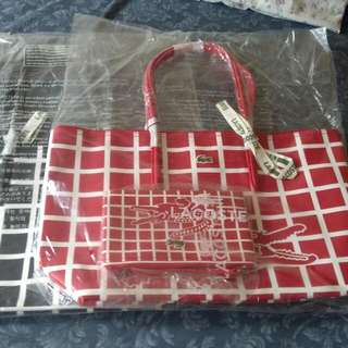 SALE!!! Lacoste Tote Bag With Pouch