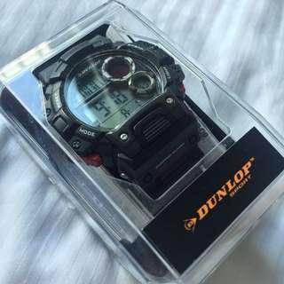 Original Dunlop Black Multifunction Sport Watch