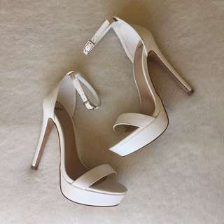 Novo White High Heels